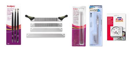 Инструменты для работы с полимерной глиной (пластикой).